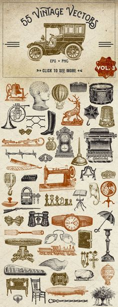 Vintage Vector Graphics Vol. 3 by Eclectic Anthology on @creativemarket
