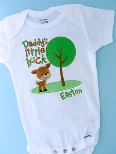 Daddy's Little Buck Shirt Personalized by ThingsVerySpecial, $13.99