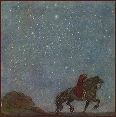 """John Bauer [Swedish painter and illustrator, 1882-1918]  From """"Bland Tomtar Och Troll"""" (Among Elves and Trolls) the annual Christmas book for children which showcased Bauer's 6th suite of illustrations.  ____  Slight digital enhancement by plumleaves."""