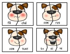 Puppy Emotions. ( French Syllable Puzzles Literacy Centre) | TpT List Of Essential Oils, Natural Essential Oils, Italian Words, Primrose Oil, Beginning Sounds, Little Games, Diy Spa, Syllable, Carrier Oils