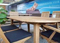Gescova Deauville Oakland Table de repas jardin Ovale-elliptique Vieux teck récyclé Massive naturel 260
