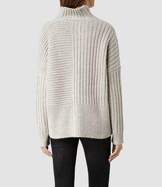 Women's knitwear, shop now. Roll Neck Dress, Roll Neck Sweater, Wrap Sweater, Cardigan Sweaters For Women, Wool Sweaters, Cashmere Sweaters, Knitwear Fashion, Knit Fashion, Knitted Coat