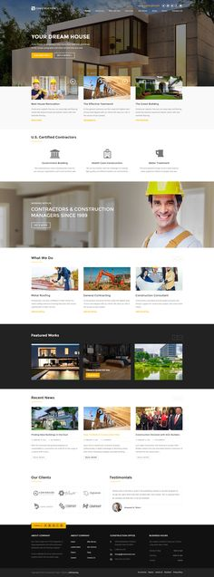 Construction - Construction & Building PSD by RedCatStudio   ThemeForest