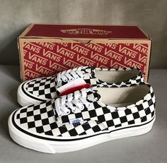 Vans Men Style 44 DX Black Check Limited Edition Anaheim Factory Sneakers 7.5 #Vans #Style44DX