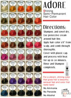 Luxury Adore Semi Permanent Hair Color Instructions