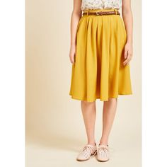 Breathtaking Tiger Lilies Midi Skirt ($50) ❤ liked on Polyvore featuring skirts, apparel, bottoms, full skirt, saturated, yellow skirt, fitted midi skirt, flower skirt, full pleated skirt and full midi skirts