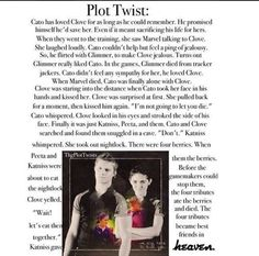 I am dying. I am looking at all these plot twist and crying. (Other reasons too) but :( hate them!!!