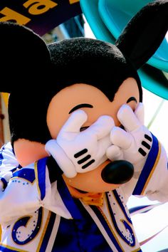 ... play peek a boo with Mickey ...Yes, Mickey is just this adorable.  www.oursunnyvilla.com