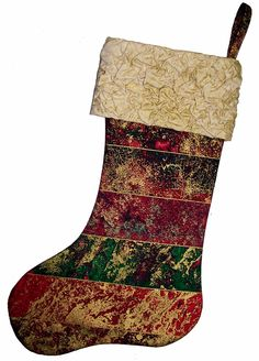 "Fabric Magic Cuff Stocking By Covert, Anita  - 10-1/2in x 18-1/2in. Project Time: -2 Hour. Fabric Type: Yardage Friendly.	Project Type: Craft.  CLP patterns are printed on 8-1/2"" x 11"", anti-copy card stock. Because they are customized with your shop's Bill-to account name, phone number and web site, they are not returnable."