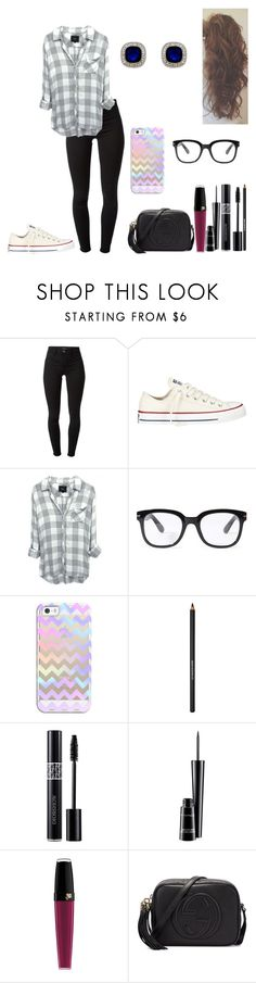 """Sem título #406"" by karen-biarmatos ❤ liked on Polyvore featuring мода, J Brand, Converse, Forever 21, Casetify, Lancôme, Christian Dior, MAC Cosmetics и Gucci"