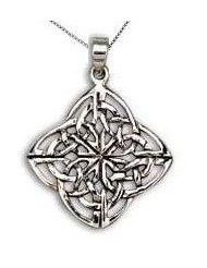 Handcast Sterling Silver Irish Celtic Mothers Knot Pendant Necklace | museumreplicajewelry - Jewelry on ArtFire