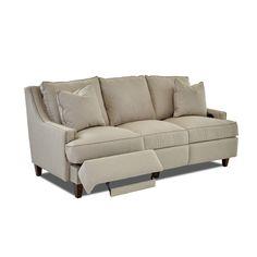 Wayfair Custom Upholstery Tricia Power Hybrid Reclining Sofa | Wayfair