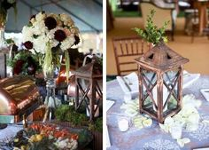 jewel toned wedding centerpieces