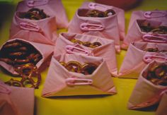 Baby Shower Food. I'd like jordan almonds in pastels instead.