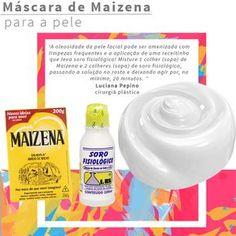 Saiba como preparar uma máscara de soro fisiológico e maizena para o rosto para combater a oleosidade e os poros dilatados!