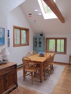 Yeah for skylights that provide an abundance of natural light.  #OuterCapeVacationRental Call us at 508-349-0266