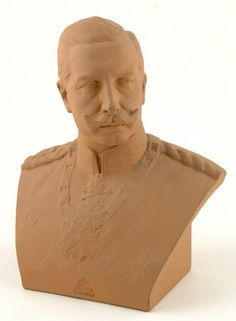 The German Emperor, Kaiser Wilhelm II, Queen Victoria's eldest grandchild, had a love-hate relationship with his British royal cousins. But he was a well-received guest at Kingston Lacy where he stayed for a week in 1907.  Wilhelm sent this terracotta bust of himself to Henrietta Bankes, the chatelaine of Kingston Lacy, after his departure. He had been quite taken with the widowed Mrs Bankes, who spoke high German and had travelled the courts of Europe in her youth.