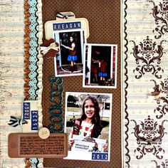 love the colors  layout by Heather Leopard