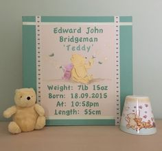 Pooh bear Name Canvas, Canvas Artwork, Wedding Canvas, Pooh Bear, Happy Day, Abstract, Frame, Painting, Art On Canvas