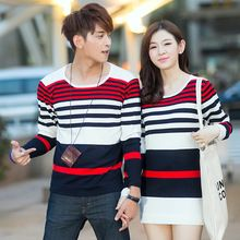 2016 Valentine's Day gift Couple sweaters Lovers clothes O-Neck Men's sweaters Womens sweaters and pullovers knitted sweaters.(China (Mainland))