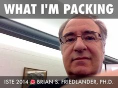 What are you packing for #ISTE14? Check out what our Haiku Deck Guru and ISTE Virtual Event Team member, Brian Friedlander, is packing.