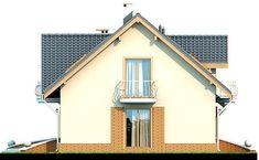 DOM.PL™ - Projekt domu DN Karmelita mała CE - DOM PC1-01 - gotowy koszt budowy Home Fashion, Malaga, House Plans, Shed, Farmhouse, Outdoor Structures, Cabin, House Styles, Modern