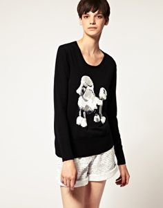 Markus Lupfer White Poodle Sweater