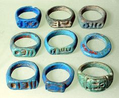 """awesomepharoah: """" A collection of various rings, ca. 1295-1070 B.C.E, 19th Dynasty (Ramesside period), New Kingdom * """""""
