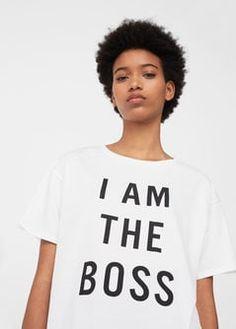 T-shirt algodão mensagem