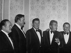 Bob Hope, John Wayne, Ronald Reagan, Dean Martin and Frank Sinatra