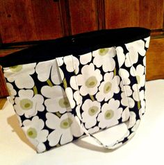 Diaper Bag Marimekko Fabric Tote Bag Large Purse by MyaCdesign