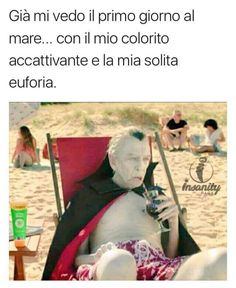 Gia mi vedo il primo giorno al mare… Funny Pins, Funny Memes, Jokes, Funny Cute, Hilarious, Medical Memes, Funny Medical, Italian Humor, Physician Assistant