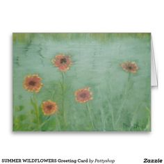 SUMMER WILDFLOWERS Greeting Card