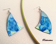 HandCrafted Double-sided Wood Fiber Blue Shark Fin by rusticouture