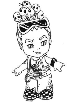 cleo and deuce coloring pages - photo#23