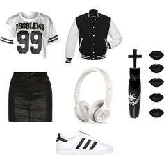 outfit by sila-gokkdere on Polyvore featuring polyvore fashion style rag & bone/JEAN adidas Originals Manic Panic