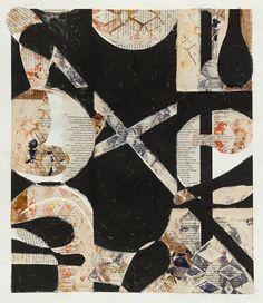 "Katie Dell Kaufman, ""Long Handled Spoon"", Encaustic monoprint collage, 2012"
