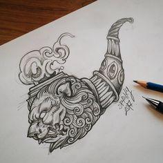 """Smoker lion """" - Blackwork flash tattoo idea sketch.- . หากใครสนใจมีรอยสักที่ถูกสร้างมาพิเศษเพื่อคุณโดย spankystudio  ทัก PM มาลองคุยรายละเอียดได้ครับผม """" เพราะรอยสักคือศิลปะชิ้นพิเศษ เพื่อบ่งบอกความเป็นตัวตนที่ไม่เหมือนใคร """" . masterpiece tattoos by Spankystudio - Skin is a canvas ,stay styled & die unique.- . Custom design & pivate tattoo studio contact: Spankystudio@gmail.com . Custom design & pivate tattoo studio contact: Spankystudio@gmail.com IG: @spankystudio Page…"""