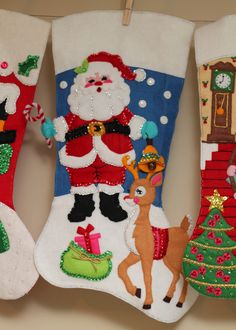 Santa and Reindeer Stocking by TaDa! Creations photo Stockings005_zps54f11a37.jpg