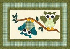 Image detail for -To make this quilt, you will need a layer cake and 2 yards of a solid ... I like the owls for my mug rug--db
