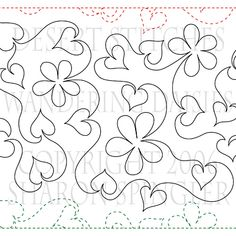WANDERING DAISIES | Machine Quilting Design | Paper | ClothWerx