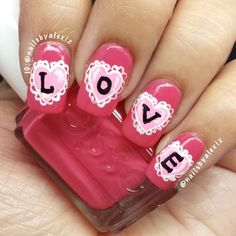 valentine by nailsbyalexiz #nail #nails #nailart