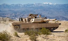 M1A1 Abrams tank kicking up dust during training at Twentynine Palms Calif. 2016 [OC] [4255x2567]
