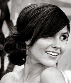 Cute wedding hair.