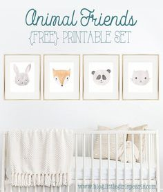 There's nothing sweeter than little baby animals for decorating a nursery!