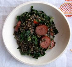 lentils with kale, fennel & sausage: could sub in low fat turkey sausage for a healthier spin on this dish