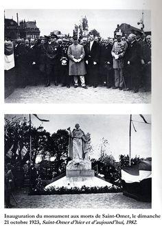 Le monument aux morts de Saint-Omer est inauguré le dimanche 21 octobre 1923.
