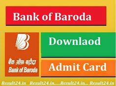 Bank of Baroda Admit Card 2016 released for exam will held on 25th September…