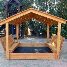 Colourful Truck Sandbox With Shade Cover - The Wood Workshop Kids Backyard Playground, Backyard Playset, Backyard For Kids, Backyard Projects, Outdoor Projects, Kids Outdoor Play, Kids Play Area, Kids Sandbox, Sandbox Ideas