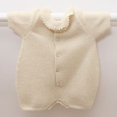 Ravelry: Romper / Instructions in English pattern by Florence Merlin. 0-6 months